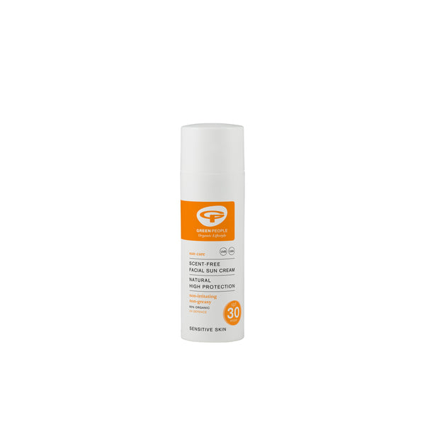 Green People Scent-Free Facial Sun Cream 50 ml SPF 30