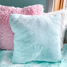 Load image into Gallery viewer, Pink unicorn with sleigh snuggle pillow