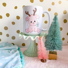 Load image into Gallery viewer, Pink Reindeer Mug