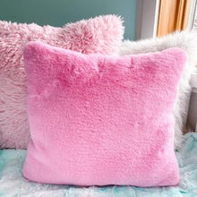 Load image into Gallery viewer, Pink Santa snuggle pillow