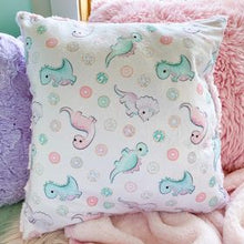 Load image into Gallery viewer, Donuts and Dino's snuggle pillow