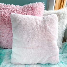 White unicorn pulling sleigh snuggle pillow