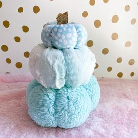 Blue plush pumpkins set of 3