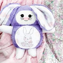 Load image into Gallery viewer, Mama bunny cutieloo in Purple fur