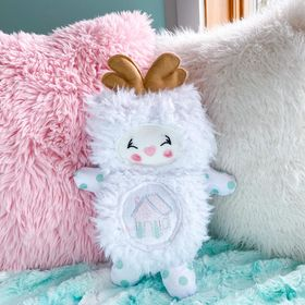 Medium reindeer cutieloo in white cuddle