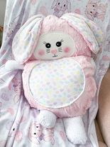 Jumbo bunny cutieloo in Pink fur with eggs belly