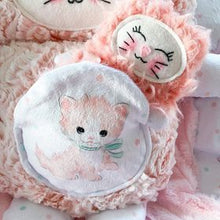 Load image into Gallery viewer, Coral and cream mama kitty cutieloo with coral cuddle baby in pouch