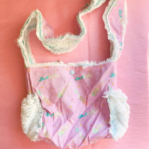 Mermaid with Frosted Fur Dolly Diaper Bag