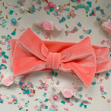 Load image into Gallery viewer, Coral Bow Headband
