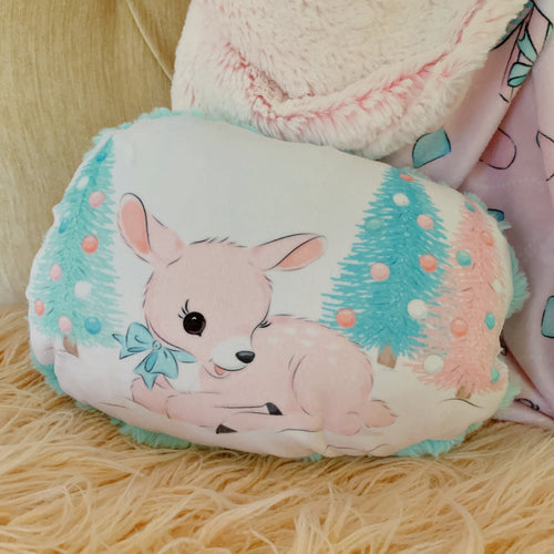 Pink Fawn Shaped Pillow
