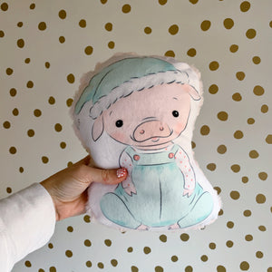 Christmas Pig Shaped Pillow