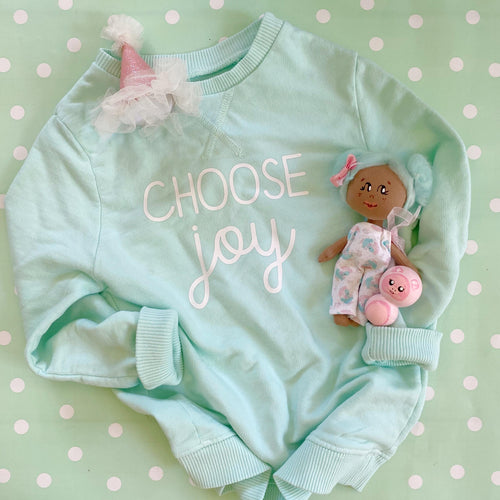 Choose Joy Mint Pullover