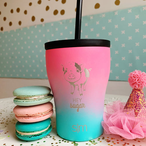 Rainbow Pig Unicorn 10 oz Tumbler