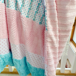 Medium Mermaid Stripey Blanket