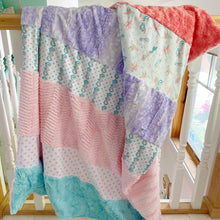 Load image into Gallery viewer, Medium Mermaid Stripey Blanket