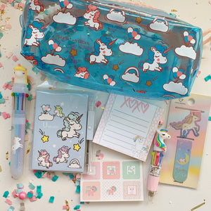 Unicorn Stationary Set Blue