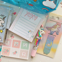 Load image into Gallery viewer, Unicorn Stationary Set Blue