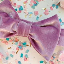 Load image into Gallery viewer, Purple Bow Headband