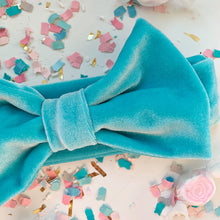 Load image into Gallery viewer, Aqua Bow Headband