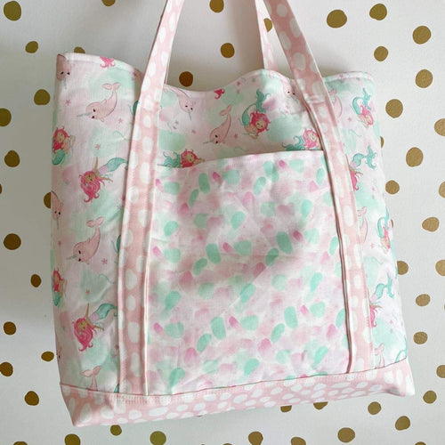 Mermaid and Narwhals Deluxe Tote
