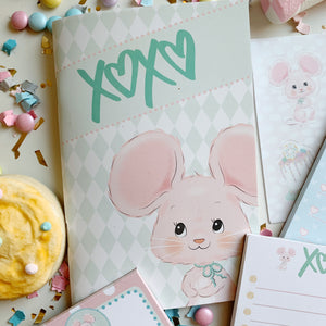 XO Mouse Stationary Set with Checklist Pad