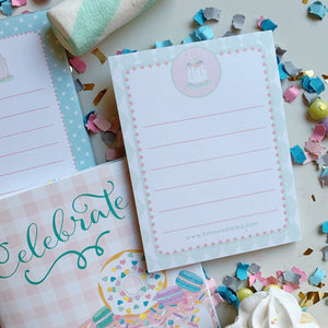 Celebrate Cake Stationary Set