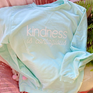 Kindness is Contagious Mint Pullover