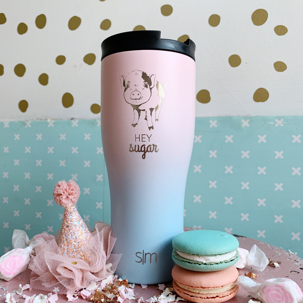 Rainbow Pig Cotton Candy 20 oz Tumbler