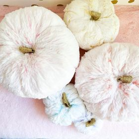 Frosted plush pumpkins set of 5