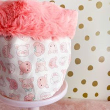 Load image into Gallery viewer, Pink Piggy Face Storage Bin