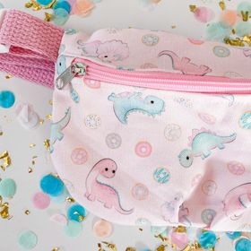 Pink Dino Fanny Pack