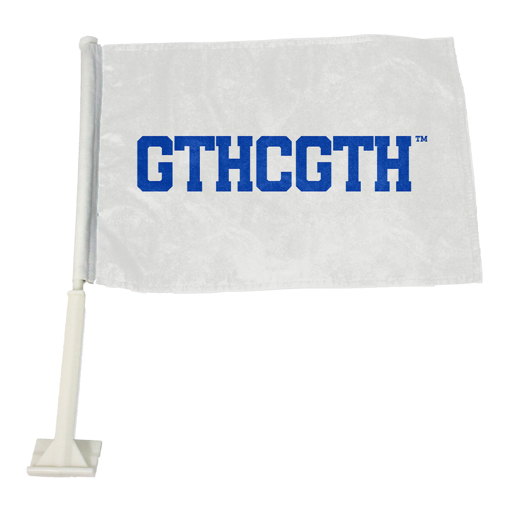 GTHCGTH Car Flag - White
