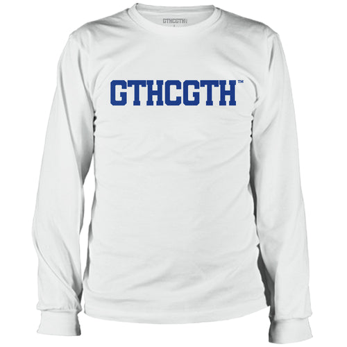 GTHCGTH Long Sleeve Tee Front Logo - White
