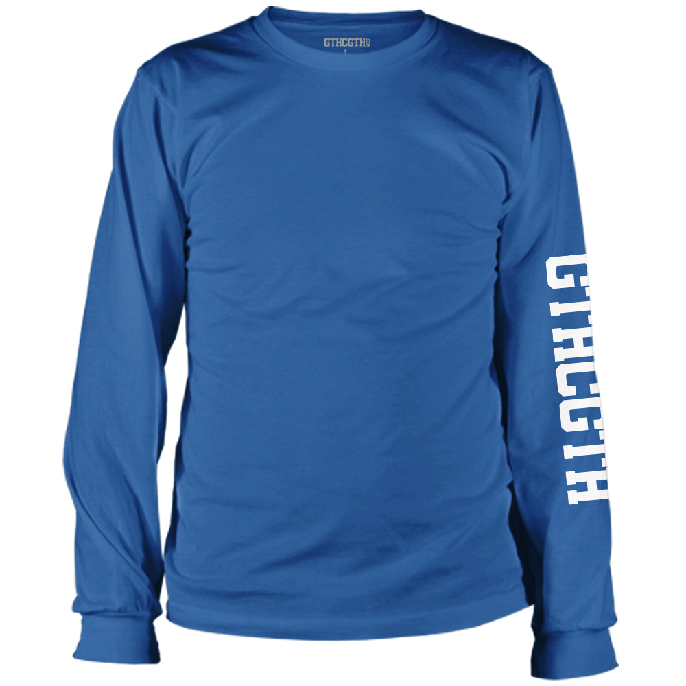 GTHCGTH Long Sleeve Tee Sleeve Logo - Blue