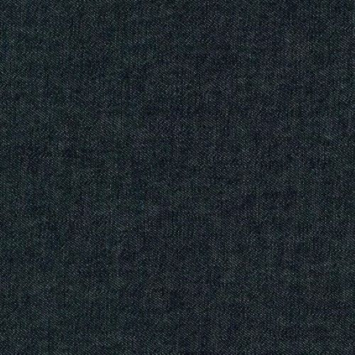 Robert Kaufman Washed Denim 8 oz - Black - 1/2 metre
