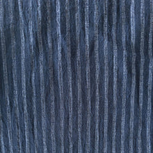 Load image into Gallery viewer, Striped Washed Linen - Indigo/Silver - 1/2 metre