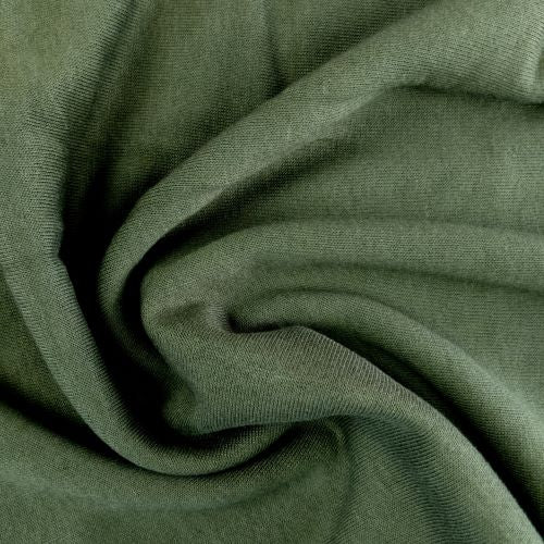 Bamboo Fleece - Military - 1/2 metre