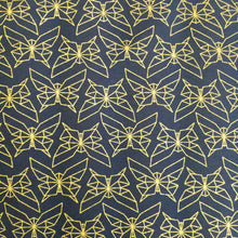 Load image into Gallery viewer, Geo Butterfly Dusk/Metallic Gold Organic Cotton Knit- 1/2 meter