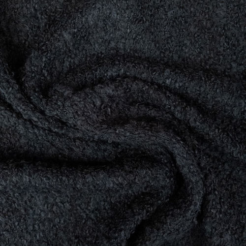 Boucle Wool Blend - Black - 1/2 metre