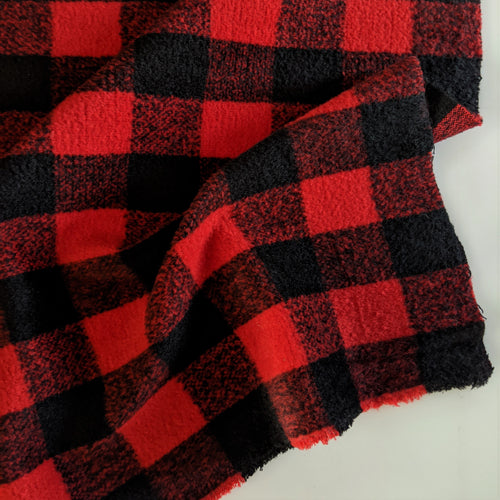 Wool Blend Coating - Buffalo Plaid - 1/2 metre
