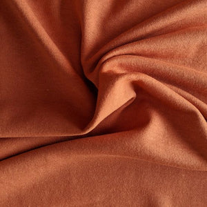 Bamboo Fleece - Spicy Coral- 1/2 metre