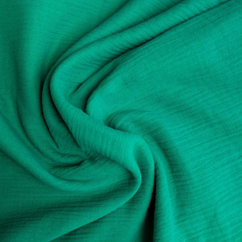 Cotton Double Gauze - Kelly Green - 1/2 metre