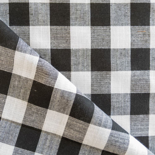Cotton Gingham - Black - 1/2 meter