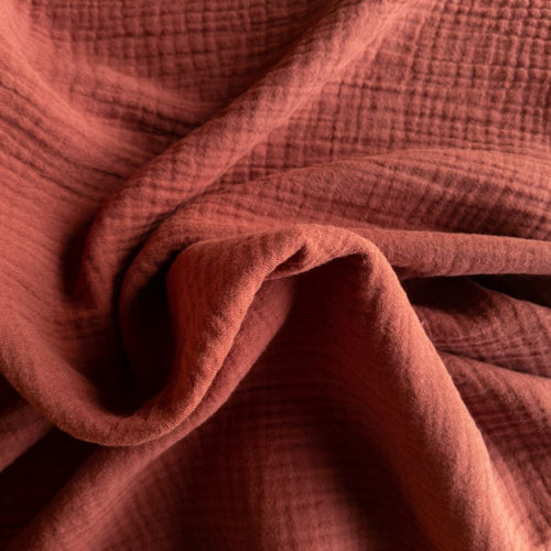 Cotton Double Gauze - Amber - 1/2 metre