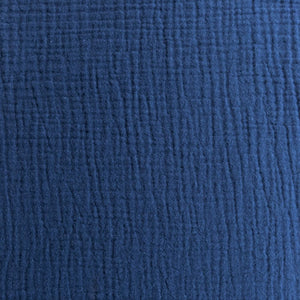 Cotton Double Gauze - Navy - 1/2 metre