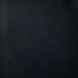 Cotton Double Gauze - Black - 1/2 metre
