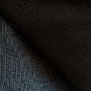 Fine Wale Stretch Corduroy - Black - 1/2 meter