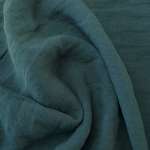 Midweight Washed Linen - Caribbean - 1/2 metre