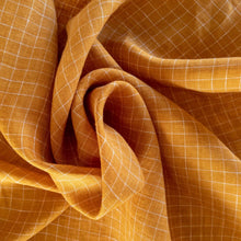 Load image into Gallery viewer, Yarn Dyed Linen Check - Mango - 1/2 meter