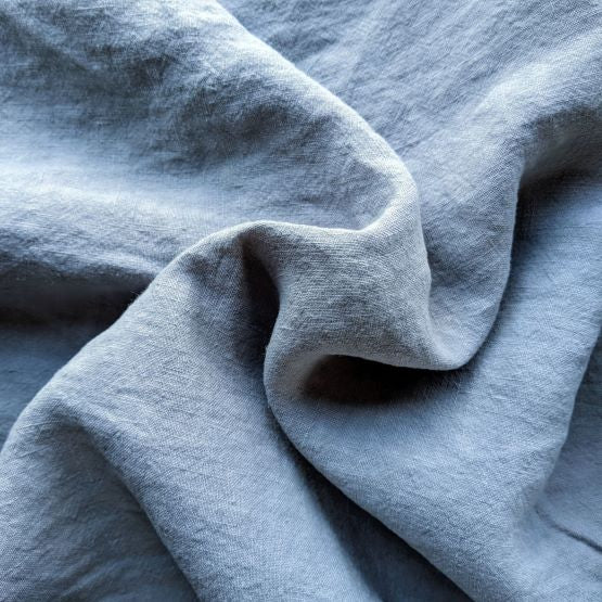 Midweight Washed Linen - Mist - 1/2 metre